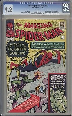 AMAZING SPIDER-MAN 14 - CGC 9.2 - First Green Goblin Appearance - Marvel Comics