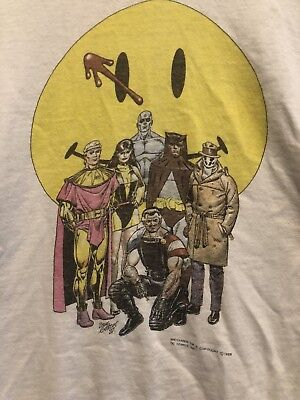 Vintage 1988 DC Comics The Watchmen Shirt graphitti single Stitch XL