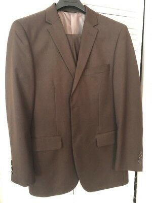 Staple Brown Suit 40R 42 41 Angelo Rossi Modern Tailored Fit Ted Baker Fans