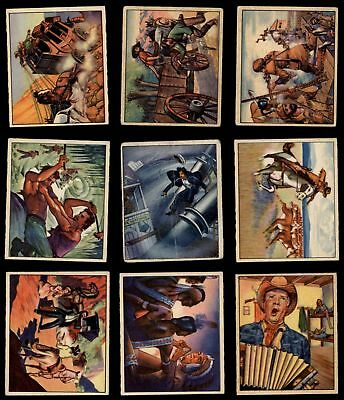 1949 Bowman Wild West Partial Complete Set VG/EX