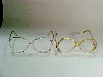 Pair of Vintage Funky Retro Round Eyeglasses -- Shaded Top to Bottom Sapphire+
