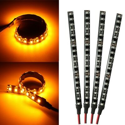 4x Motorcycle 6'' 18 LED Tail Brake Stop Turn Signal Strip Light Lamp For Harley
