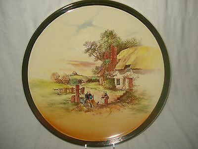 """13 1/2"""" Royal Doulton """"Rustic England"""" D5694 Charger Lg Display Plate Superb"""