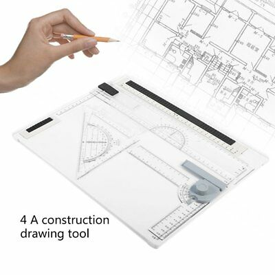 38*30cm A4 Drawing Board Office Graphic Design Work Drafting With StraightedgeLP
