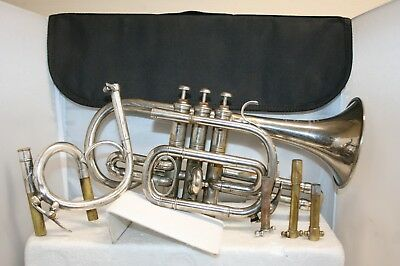 Rare Vintage Couesnon Hors Concours Cornet With Extras and Case