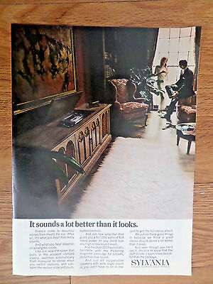 1969 Sylvania Stereo Phonograph Ad  It Sounds a Lot better than it Looks