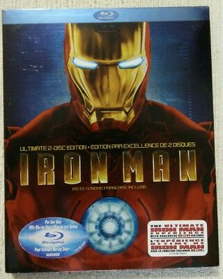 Iron Man (Blu-ray Disc, 2008, 2-Disc Set, Canadian Ultimate Edition) w/slipcover