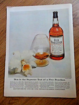 1954 Old Forester Kentucky Whiskey Whisky Ad Supreme Test fine Bourbon