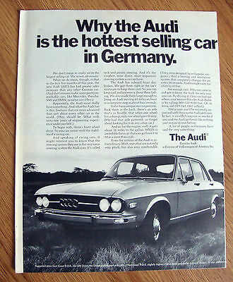1971 Audi 100 LS Ad  The Hottest Selling Car in Germany
