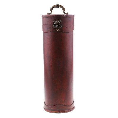 Vintage Retro Chinese Style Single Bottle Wood Red Wine Gift Box-33.5cm/13''