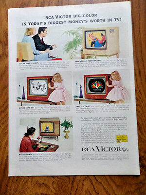 1957 RCA Victor TV Television Ad  Show 4 Models