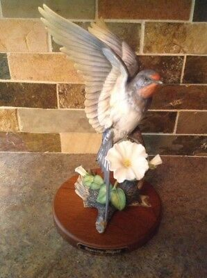 HOMCO Masterpiece Morning Flight American Swallow Porcelain Handpainted Figurine
