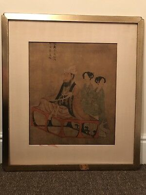 19th century Chinese antique hand painted portrait