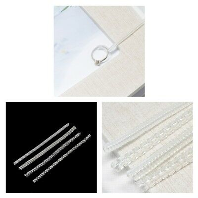 8Pcs Clear Ring Size Adjuster Insert Guard Tightener Reducer Resizing Fitter