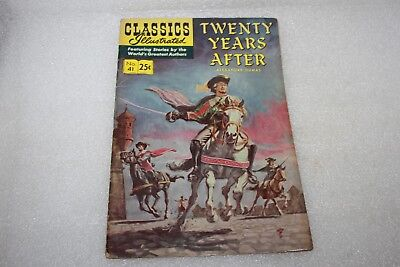 CLASSICS ILLUSTRATED COMIC No 41 TWENTY YEARS AFTER 1970
