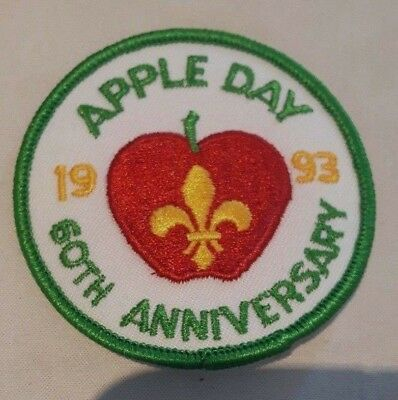 Vintage unused Boy Scouts - 1993 Apple Day 60th Anniversary patch