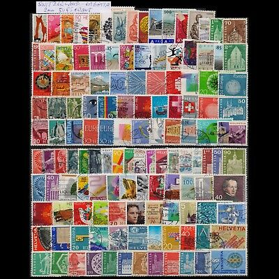 Switzerland Collection Of 200 Different Used Stamps. Combined Shipping