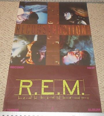 Original 1985 R.E.M. Fables of the Reconstruction Record Promo Poster 24 x 36