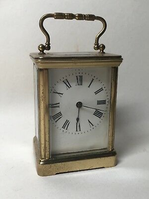 Rare Late 19th Century Small Size Miniature Solid Brass Carriage Clock. Fusee?