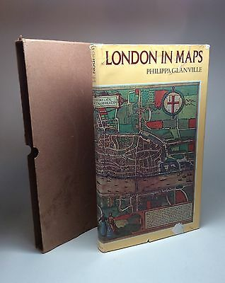 Rare Book First Edition 1972 London in Maps by Philippa Glanville Very Good Copy