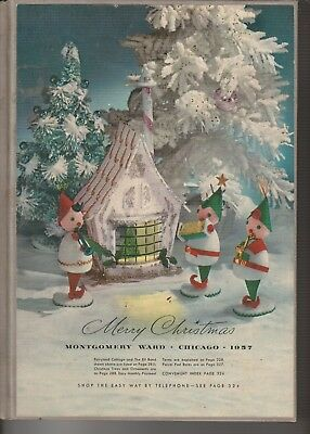 Vintage 1957 Montgomery Ward Hard Bound Store Christmas Catalog