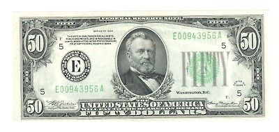 1934 $50 Federal Reserve Note - Richmond, Virginia - Uncirculated