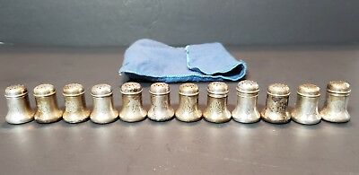 12 Sterling Silver Salt and Pepper shakers 1 1/4 Inch Tall 4 oz scrap