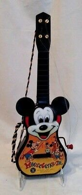 Vintage Mickey Mouse Mousegetar Jr. Disney Mattel Toy Guitar 1955