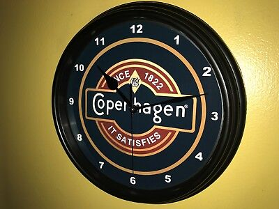 Copenhagen Snuff Chaw Chewing Tobacco Advertising Bar Man Cave Wall Clock Sign