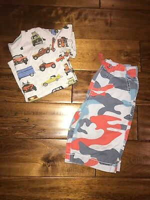 Mini Boden Boys Shorts 4 5 Vintage Car Shirt