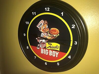 Frisch's Big Boy Diner Restaurant Kitchen Advertising Wall Clock Sign