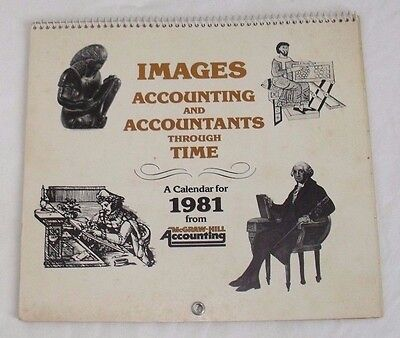 Vintage IMAGES ACCOUNTING AND ACCOUNTANTS THROUGH TIME 1981 Calendar McGraw-Hill