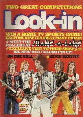 Look-In magazine.  May 24th 1975.  Bay City Rollers.  Very good condition.