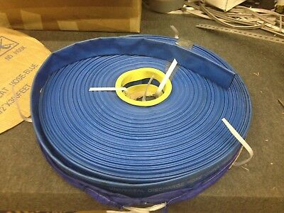 """Agricultural Grade Blue PVC Universal Lay Flat Discharge Hose, 1-1/2"""" x 300',"""