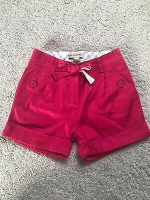 Girls Burberry Shorts Age 4