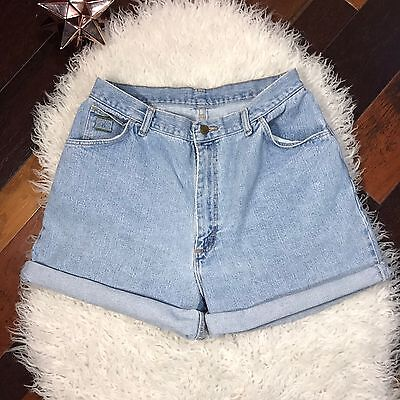 WRANGLER For Women Jean Shorts 16 Regular Mom Jeans High Rise Light Blue VTG