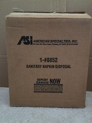 ASI 0852 DROP BOTTOM Sanitary Napkin Tampon Disposal Trash Waste Receptacle can
