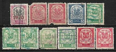 1920-1924 Dominican Republic SET OF 11 USED STAMPS (Michel #186,198,199,200,201)