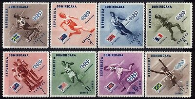 1957 REPUBLICA DOMINICANA Complete SET OF 8 MNH OG STAMPS (Michel # 585A-892A)