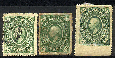 1884 MEXICO SET OF 3 USED/UNUSED STAMPS (Michel # 129,133)