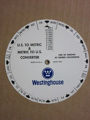 Westinghouse Electric US to Metric Converter Free Shipping