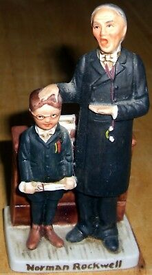 1979 NORMAN ROCKWELL Teacher/Student Figurine NR-210 GROSSMAN DESIGN (Used)