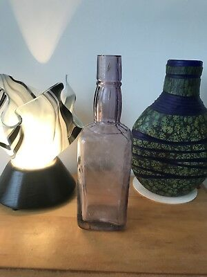 Rare Antique Jack Daniel's Patented Square Bottle Amethyst Glass