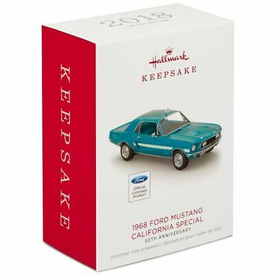 Hallmark Keepsake 2018 Ford Mustang Limited 50th Metal Ornament New with Box
