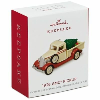 Hallmark Keepsake 2018 Mini 1936 GMC Pickup Christmas Ornament Limited New w Box