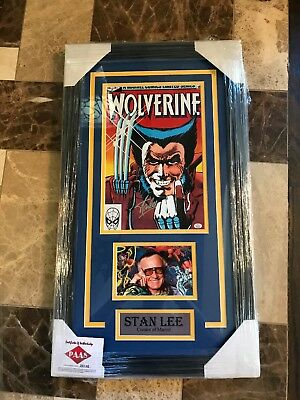 stan lee autograph wolverine comic framed