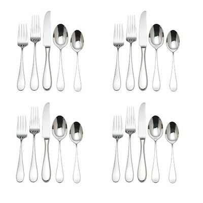 Reed /& Barton Allora 18//10 Stainless Steel 20pc Flatware Set Service for Four