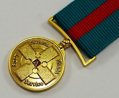 Irish Army Reserve FCA Long Service Medal with Ribbon. Seirbhis Fhada