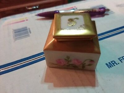 1909 Limoges Hand Painted Inkwell 1909