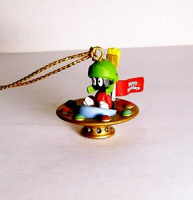 Marvin the Martian in Flying Saucer Miniature Looney Tunes Ornament Warner Bros